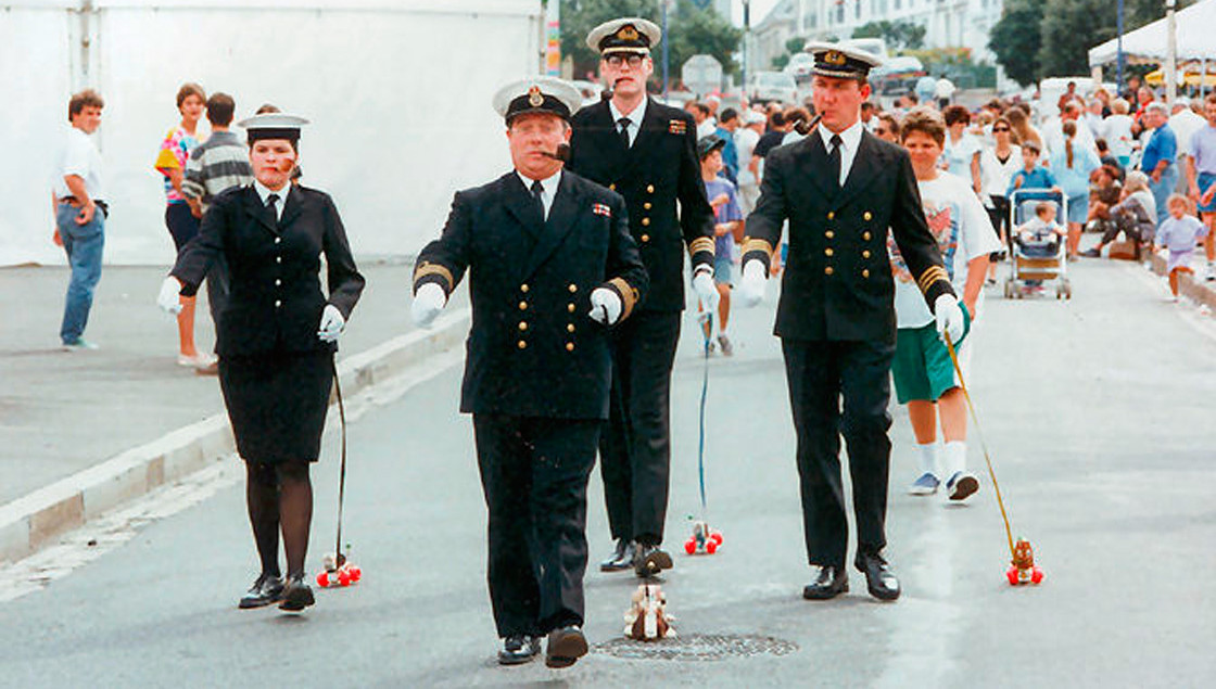 Walkies Naval Officers