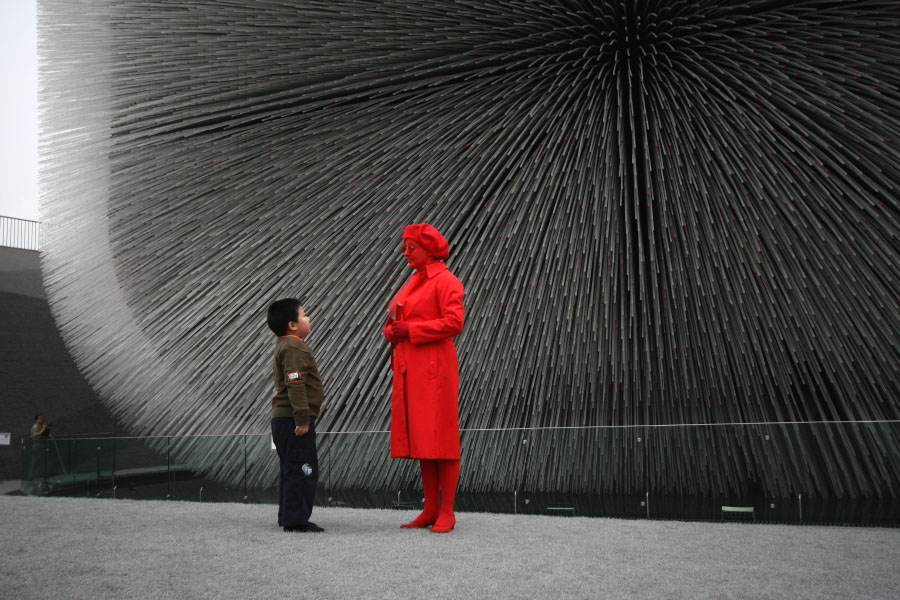 World Expo Shanghai Red Lady